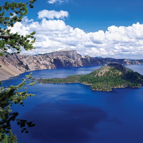 Crater Lake at Crater Lake National Park, Oregon, USA--Photographic Print