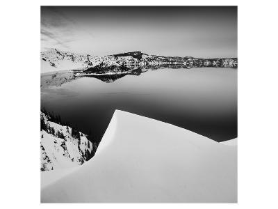 Crater Lake in Black and White-Shane Settle-Art Print