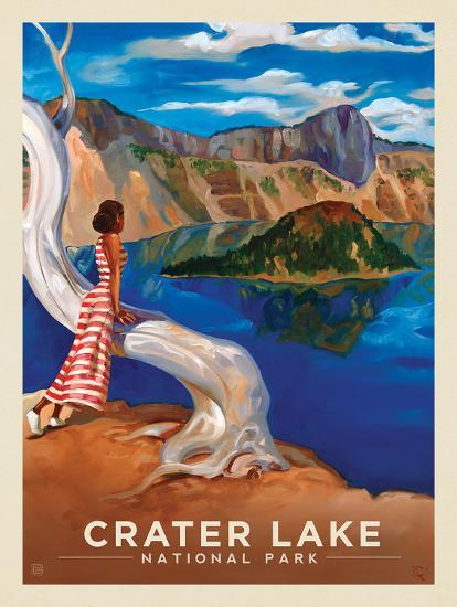 Crater Lake National Park Crystal View Art Print Anderson Design Group Art Com