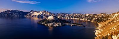 Crater Lake, Oregon at Winter--Photographic Print
