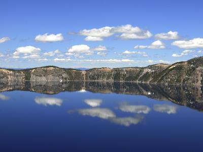 Crater Lake Reflections, Crater Lake National Park, Oregon, USA-Michel Hersen-Photographic Print