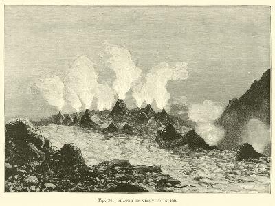 Crater of Vesuvius in 1834--Giclee Print
