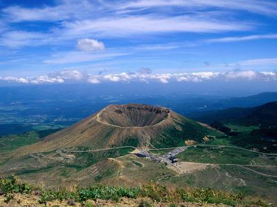 Crater of Zuma-Kofuji (Azuma's Little Mt. Fuji) on Bandai-Azuma Skyline, Fukushima, Japan-Martin Moos-Photographic Print