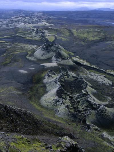 Crater Row from the 1783 Volcanic Eruptions, Sudurland, Iceland-Grant Dixon-Photographic Print