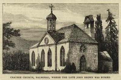 Crathie Church, Balmoral, Where the Late John Brown Was Buried--Giclee Print