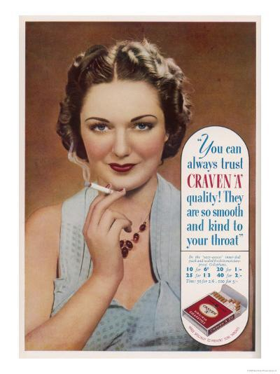 Craven a Cigarettes, You Can Always Trust the Quality--Giclee Print