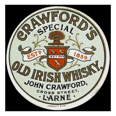 Crawford's Old Irish Whiskey--Giclee Print