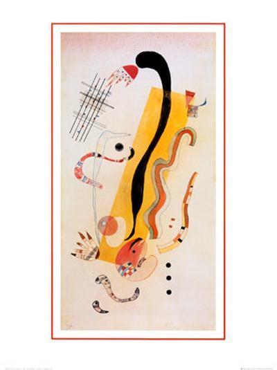Crawling-Wassily Kandinsky-Art Print