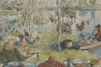 Crayfishing, from 'A Home' series, c.1895-Carl Larsson-Giclee Print