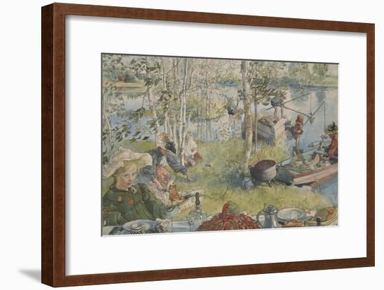 Crayfishing, from 'A Home' series, c.1895-Carl Larsson-Framed Giclee Print