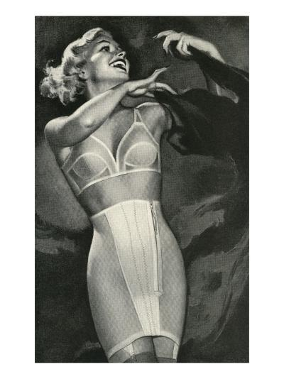 Crazed Woman in Underwear--Art Print