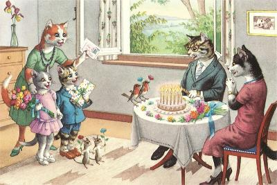 Crazy Cats Birthday Party--Art Print