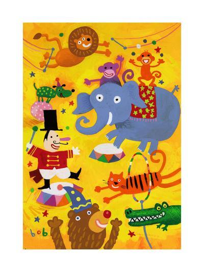 Crazy Circus Characters--Art Print