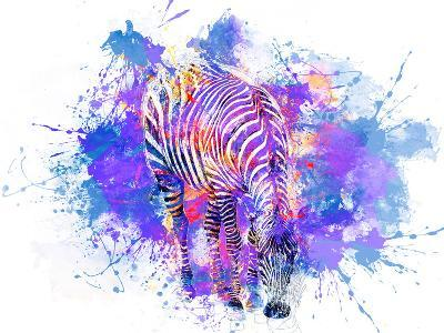 Crazy Zebra-Lebens Art-Art Print