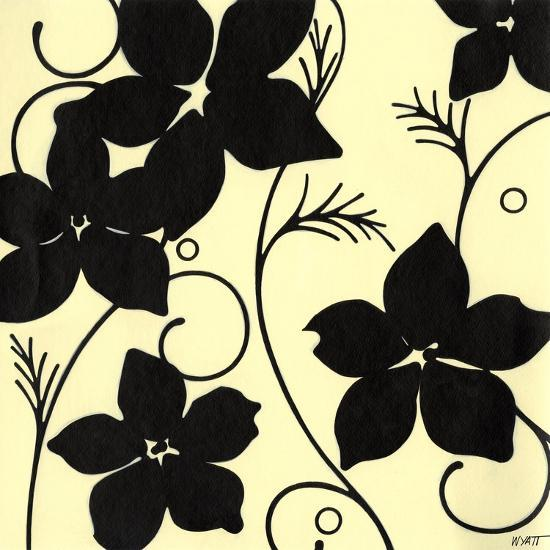 Cream with Black Flowers-Norman Wyatt, Jr^-Art Print