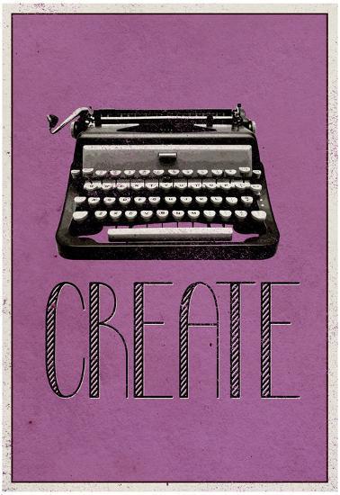 Create Retro Typewriter Player Art Poster Print--Poster