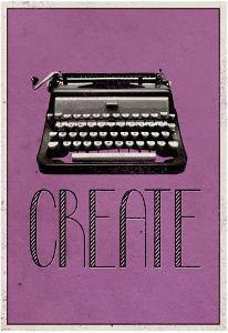 Create Retro Typewriter Player Art Poster Print