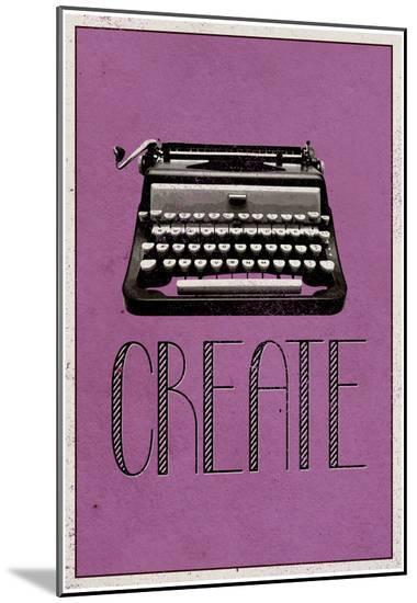 Create Retro Typewriter Player Art Poster Print--Mounted Print