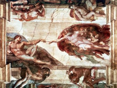 Creation of Adam, 1508-1512-Michelangelo Buonarroti-Giclee Print