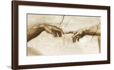 Creation of Adam, 1512 - Detail-Michelangelo-Framed Giclee Print