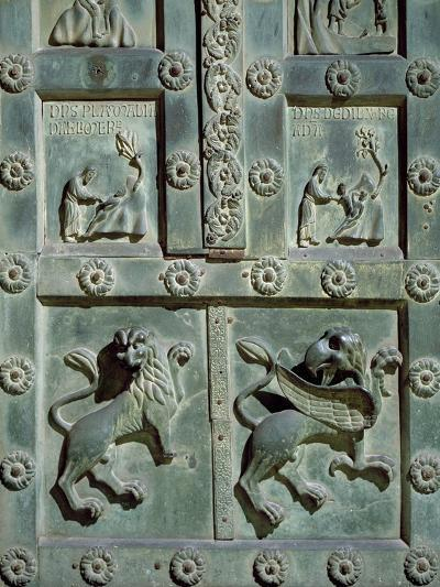 Creation of Adam and Eve, 1185, Detail of Bronze Gate by Bonanno Pisano--Giclee Print
