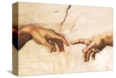 Creation of Adam (detail)-Michelangelo Buonarroti-Stretched Canvas Print