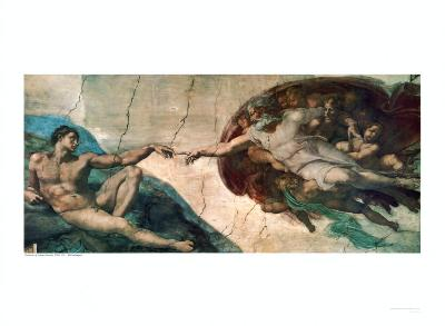 Creation of Adam-Michelangelo Buonarroti-Art Print