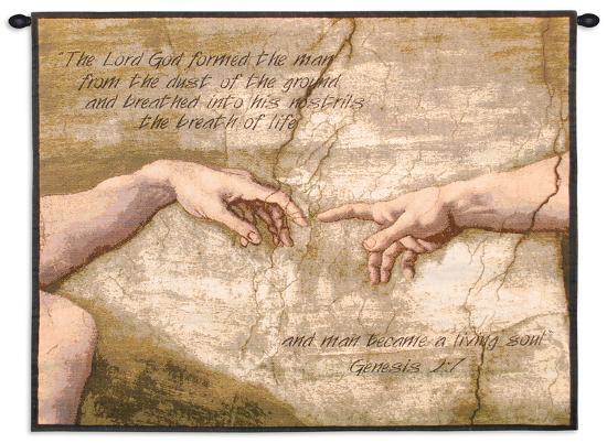 Creation of Adam-Michelangelo Buonarroti-Wall Tapestry