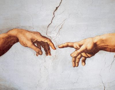 Creation of Adam-Michelangelo Buonarroti-Art Print