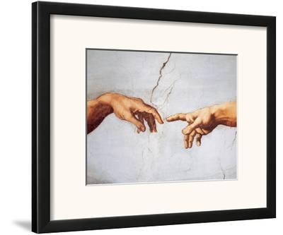 Creation of Adam-Michelangelo Buonarroti-Framed Art Print