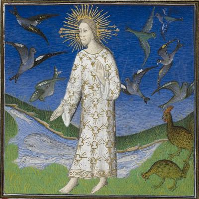 Creation Scene Showing the Fifth Day, With God Creating the Animals Of the Air and the Water-Guyart Des Moulins-Giclee Print