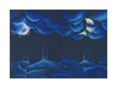 Creation Sun and Moon-Jung Sook Nam-Giclee Print
