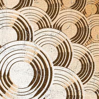 Creative Blue Circles Composition- RATOCA-Art Print