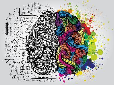 Creative Concept of the Human Brain, Vector Illustration-Lisa Alisa-Art Print