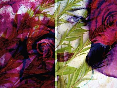 Creative Dyptich of a Portrait and a Rose-Alaya Gadeh-Photographic Print