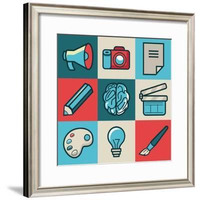 Creative Icons-venimo-Framed Premium Giclee Print