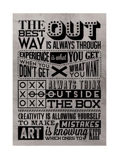 Creativity Set Grey-Vintage Vector Studio-Art Print