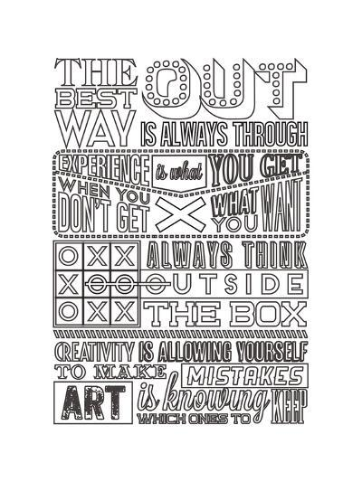 Creativity Set White-Vintage Vector Studio-Art Print