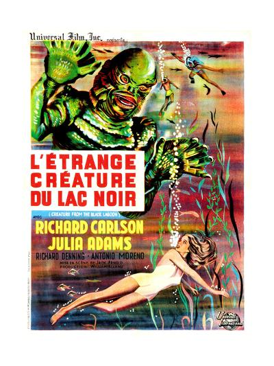 Creature from the Black Lagoon, (aka L'Etrange Creature Du Lac Noir), French Poster Art, 1954--Giclee Print