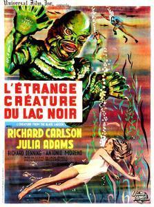 Creature from the Black Lagoon, (aka L'Etrange Creature Du Lac Noir), French Poster Art, 1954