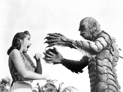 Creature from the Black Lagoon, Julie Adams, Ben Chapman, 1954--Photo