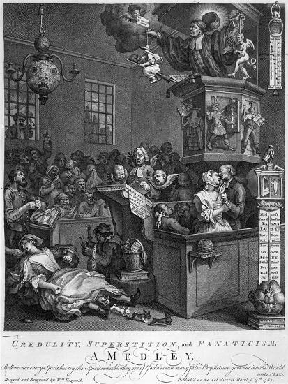 Credulity, Superstition and Fanaticism, 1762-William Hogarth-Giclee Print