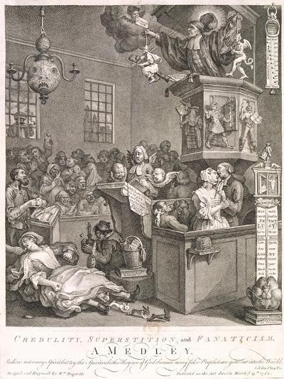 Credulity, Superstition and Fanaticism. a Medley, 1762-William Hogarth-Giclee Print