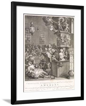 William Hogarth Fine Art Print Print Reproductions Credulity /& Superstition