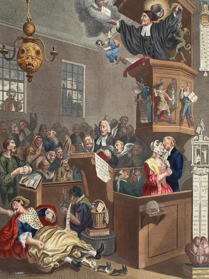 Credulity, Superstition and Fanaticism, Illustration from 'Hogarth Restored: the Whole Works of…-William Hogarth-Giclee Print