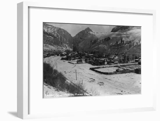 Creede, Colorado - Panoramic View of Town-Lantern Press-Framed Art Print
