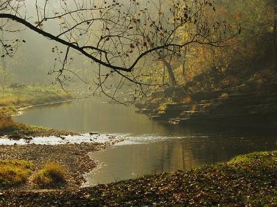 Creek Runs Through Blue Hole Campground-Raymond Gehman-Photographic Print
