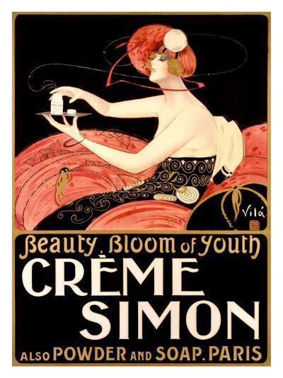 Creme Simone Bath Beauty-Emilio Vila-Giclee Print