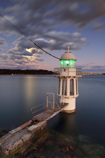 Cremorne Point Lighthouse Sydney Harbour-Leah-Anne Thompson-Photographic Print