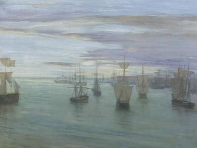Crepuscule in Flesh Colour and Green: Valparaiso-James Abbott McNeill Whistler-Giclee Print